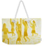 Guarding The Goal Second In Stickball Series Weekender Tote Bag