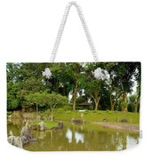 Gazebo Trees Lake And Rock Garden In Singapore Chinese Gardens Weekender Tote Bag