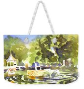 Gazebo With Pond And Fountain II Weekender Tote Bag