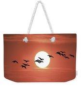 Geese Against The Sun Weekender Tote Bag