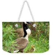 Geese And Gosling Weekender Tote Bag