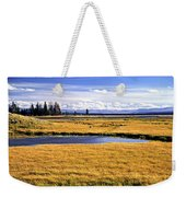 Geese At Yellowstone Lake Weekender Tote Bag