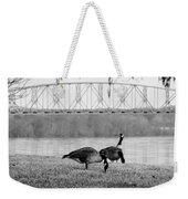 Geese By The Ohio Weekender Tote Bag
