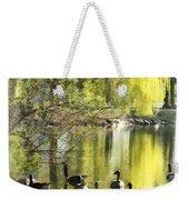 Geese By Willow Weekender Tote Bag