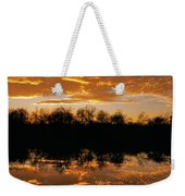 Geese Fly In The Sunset Weekender Tote Bag