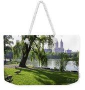 Geese In Central Park Nyc Weekender Tote Bag