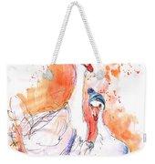 Geese In Spanish Winter Weekender Tote Bag