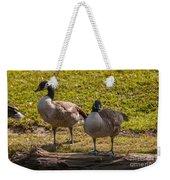 Geese On A Log Weekender Tote Bag