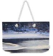 Geese On Ice Weekender Tote Bag