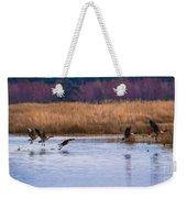 Geese Up And Away Weekender Tote Bag