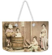 Geishas Bathing Weekender Tote Bag