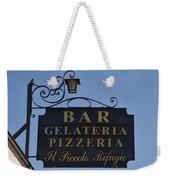 Gelateria Pizzeria Weekender Tote Bag