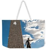 Gen. John Stark At The Bennington Battle Monument Weekender Tote Bag