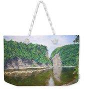 Genessee River At Letchworth Weekender Tote Bag