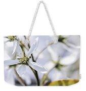 Gentle White Spring Flowers Weekender Tote Bag
