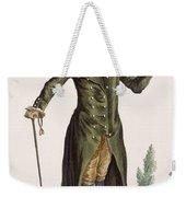 Gentleman In Green Coat, Plate Weekender Tote Bag