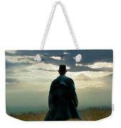 Gentleman In Top Hat Walking In Field Weekender Tote Bag