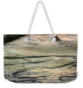 Gently Gliding Water Abstract Weekender Tote Bag