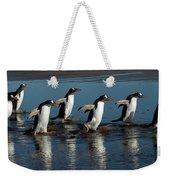Gentoo Penguins Walking Weekender Tote Bag by Hiroya Minakuchi