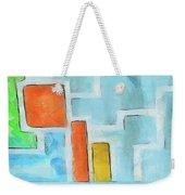 Geometric Abstract Weekender Tote Bag by Pixel Chimp