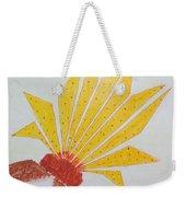 Geometric Blooming Lotus Weekender Tote Bag