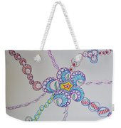 Geometric Greeting Weekender Tote Bag