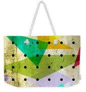 Geometric In Colors  Weekender Tote Bag by Mark Ashkenazi