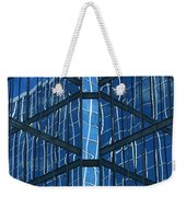Geometric Reflection Weekender Tote Bag