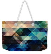 Geometric Textural Colorations Weekender Tote Bag