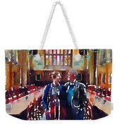 George And Chrissy At Hogwarts Weekender Tote Bag