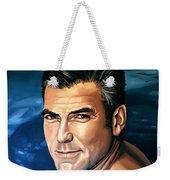 George Clooney 2 Weekender Tote Bag by Paul Meijering