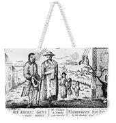 George IIi Cartoon, 1779 Weekender Tote Bag