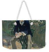 George Moore In The Artist's Garden Weekender Tote Bag
