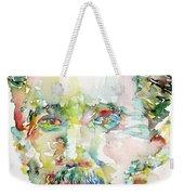 George Orwell Watercolor Portrait Weekender Tote Bag