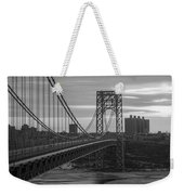 George Washington Bridge Frame Work Bw Weekender Tote Bag