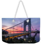 George Washington Bridge Weekender Tote Bag