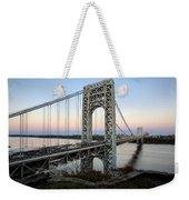 George Washington Bridge Sunset Weekender Tote Bag by Susan Candelario