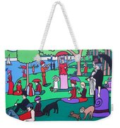 George Seurat- A Cyclops Sunday Afternoon On The Island Of La Grande Jatte Weekender Tote Bag