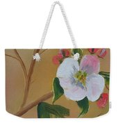 Georgia Flowers - Apple Blossoms- Stretched Weekender Tote Bag