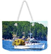 Georgia Madison Lobster Boat Weekender Tote Bag