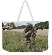 Georgian Army Sergeant Aims An M4 Weekender Tote Bag