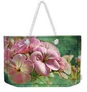 Geranium Blossoms Photoart Weekender Tote Bag