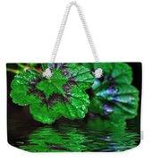Geranium Leaves - Reflections On Pond Weekender Tote Bag