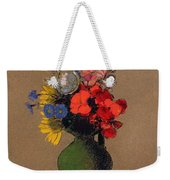 Geraniums And Flowers Of The Field Weekender Tote Bag