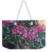 Geraniums Blooming Weekender Tote Bag