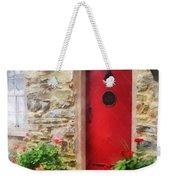Geraniums By Red Door Weekender Tote Bag