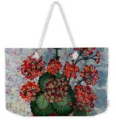 Geraniums In A Copper Pot Weekender Tote Bag