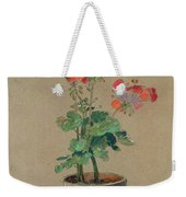 Geraniums In A Pot  Weekender Tote Bag