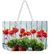 Geraniums On My Balcony Weekender Tote Bag