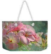 Geraniums With Texture Weekender Tote Bag